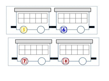 Ten Frame Train cut and paste for primary grades