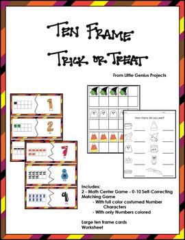 Ten Frame Trick or Treat
