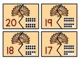 Turkey Ten Frame Matching Game 1-20