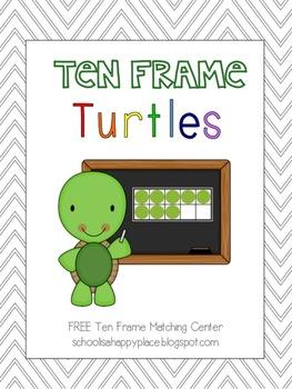 Ten Frame Turtles {Free Math Center from Bright Beginnings