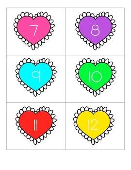 Ten Frame Valentine Match Up