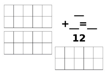 Ten Frame Valentine Math common core addition Kindergarten teens numbers