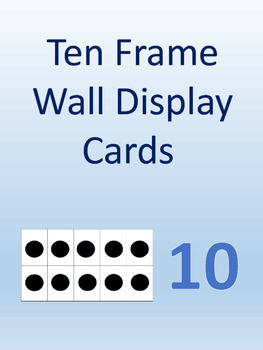 Ten Frame Wall Display Cards