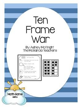 Ten Frame War Math Game {Interactive & Hands On}
