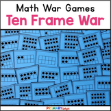 Ten Frame War Cards (A Number Sense Game) {FREE}