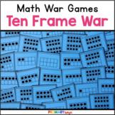 Ten Frame War Cards (A Number Sense Game) {FREE}