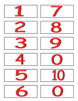 Ten Frame War numbers 1- 10