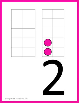 """Ten Frame """"We Want Action"""" Game  (Includes Ten Frame Number Posters for 0 - 20)"""