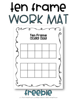 Ten Frame Work Mat