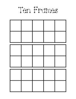 image regarding Ten Frames Printable referred to as 10 Frames Effort and hard work Mat Worksheets Coaching Elements TpT