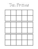 Ten Frame Work Mat for Math Activities