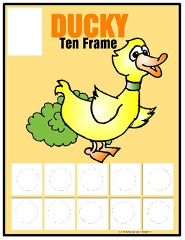 Ten Frame Work Mats with 1 - 10 Number Cards (Set of 6)