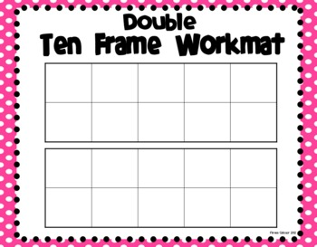 Ten frame workmats freebie by primarily speaking by for 10 frame template printable