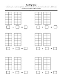 Adding Nine in Ten Frame Worksheet