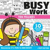 Ten Frames {Fun No Prep Worksheet Activities}