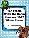 Ten Frame Write the Room Numbers 10-20  Winter Theme