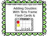 Ten Frame adding doubles 1-10 flash cards & posters