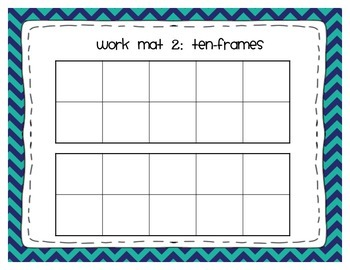 Ten-Frame and Double Ten-Frame Workmats in 3 Chevron Patterns