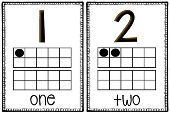 Ten Frame and Number Cards 1-20