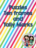 Ten Frame and Tally Mark Puzzles