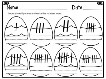 Ten Frame and Tally mark Puzzle {April}