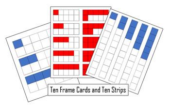 FREE Ten Frame and Ten Strip Cards