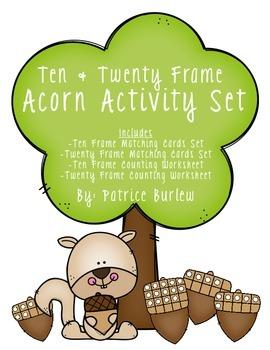 Ten Frame and Twenty Frame Acorn Activity Set