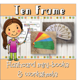 Ten Frame flashcard mini books (1-20) and worksheets