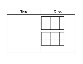 Ten Frame for Regrouping (Tens and Ones)