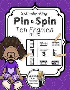 Ten Frames (0-10) - Self-Checking Math Centers