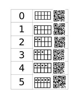 Ten Frames 0 -10 QR codes
