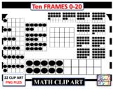 Tens Frame 0-20 Clip Art