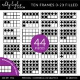 Ten Frames 0-20 Clipart {A Hughes Design}