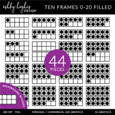 Ten Frames 0-20 Clipart {A Hughes Design}