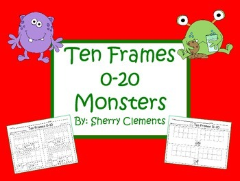 Monster Ten Frames 0-20