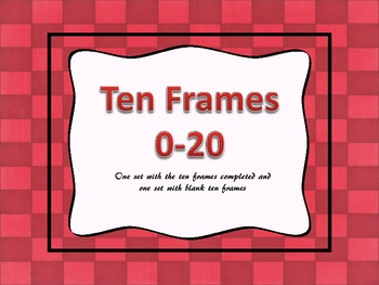 Ten Frames 0-20, Zaner Bloser