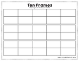 Ten Frames 0-30 Workspace Mat
