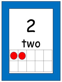 Ten Frames 1 - 10