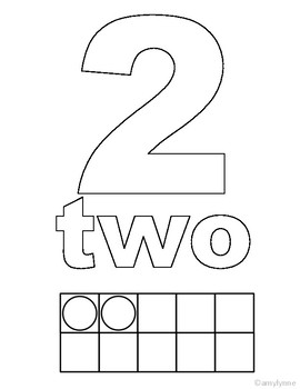 Ten Frames 1-10 Coloring Pages