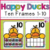 Ten Frames 1-10 Happy Ducks