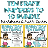 Ten Frames 1-10 Kindergarten Math Center & Worksheets Spri