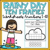 Ten Frames 1-10 Kindergarten Worksheets Spring Theme Cut & Paste