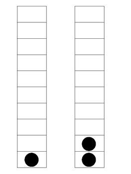 Ten Frames 1-10 Vertical