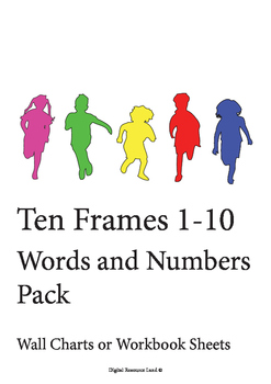 Ten Frames 1-10 Words and Numbers (Pack)