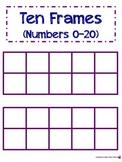 Ten Frames (1-20)