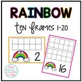 Ten Frames 1-20 {Rainbow Themed}