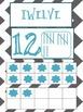 Ten Frames 1 - 20:  Teal and Gray Chevron