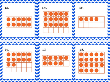 Ten Frames 1 to 20 Write the Room