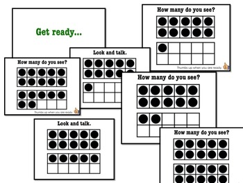 Double Ten Frames: 100% Editable, 100% AWESOME PPT!  Quick Dots Number Talks