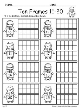 FREE DOWNLOAD : Ten Frames FREEBIE by Sherry Clements   TpT